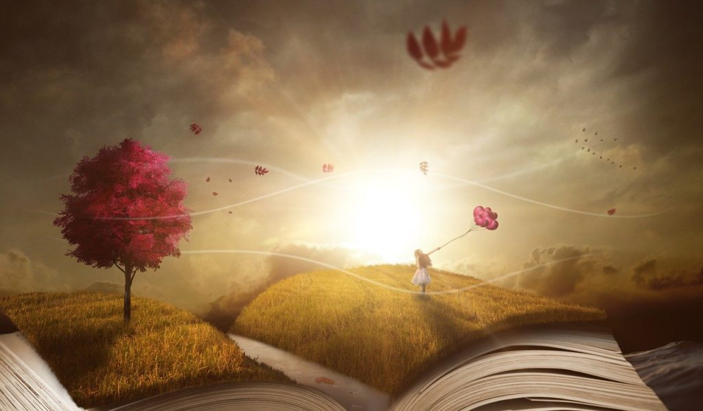 livre recouvert nature